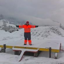 meine Arbeit im Winter: Flughafendirektor beim Notarzthelicopter Martin 10