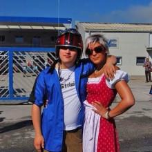 Meine Cousine Lisa und ich bei der Alpentrophy 2011